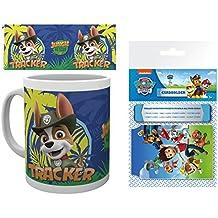 Set: La Patrulla Canina, Tracker Taza Foto (9x8 cm) Y 1 La Patrulla Canina, Tarjeteros Para Tarjetas De Crédito (10x7 cm)