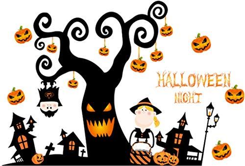 (FangfangGAO Wallpaper Halloween Lustige Kunststoff Wandaufkleber Wohnzimmer Schlafzimmer Hintergrund Wand Dekorative Wandaufkleber)