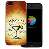 dessana Cocktail Rezepte Transparente Silikon TPU Schutzhülle 0,7mm Dünne Handy Tasche Soft Case für Apple iPhone 5/5S/SE Kamikaze