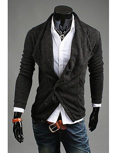 XX&GX Maglia maglione cardigan Abbigliamento uomo DJJM coltiva il disegno del collare del cappotto mucchio di moralità (grigio scuro) , dark gray , xl