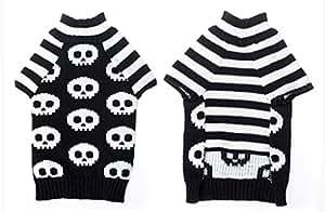 Sweater Pull à Col Roulé pour Chiot Petit Chien Motif de Crâne Taille XXS