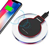 iVoler Chargeur sans Fil Rapide, Qi Chargeur à Induction, Fast Wireless Charger Compatible pour Samsung Galaxy Note 9 / S9 / S9+ / S8 / S7, iPhone XR/XS Max/XS/X /8/8 Plus- Noir