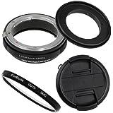 Fotodiox M-Reverse-77-Nikon-Kit Filetage de filtre inverse pour objectif Nikon