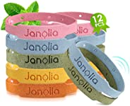 Janolia Bracciale alla citronella, 12 Bracciale , Regolabile per Bambini e Adulti
