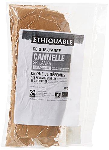 Ethiquable Cannelle en Poudre Bio et Équitable 300 g Max Havelaar