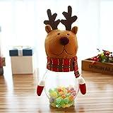 Navidad Candy Dish Caja botella de Navidad Candy Jar Candy caja azucarero recipiente de regalo de Navidad con diseño de juguetes elk