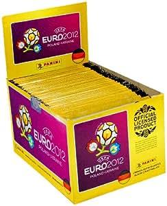 Panini 000603S – UEFA Euro 2012 Sammelsticker Display, 100 Tüten mit je 5 Stickern, original deutsche Version