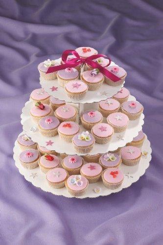 Culpitt Expositor de 3niveles de cartón para cupcakes
