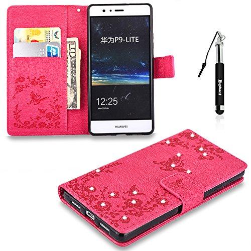 Huphant Compatible for Huawei P9 Lite Hülle, Huawei P9 Lite Tasche Leder, Flip Case PU Leder Handy Tasche Hülle Wallet Case Weiche hülle Magnet case Schutzhülle für Huawei P9 Lite(5.2
