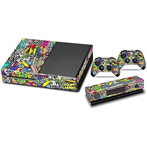 DOTBUY Xbox One Vinly Protective Skin Sticker Consola + 2 mandos Decal + cámara Kinect 2.0 Pegatinas (Graffiti Art)