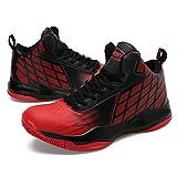 Männer Hohe Spitzen Turnschuhe Basketballschuhe Große Größe Schnüren Sich Breathable Komfort Sportschuhe Eu Größe 39-46 (Farbe : Rot, Größe : 45EU)