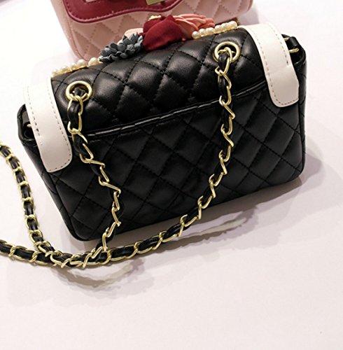 Frauen Abendtasche Blume Sequins Beaded Handtasche Clutch Geldbörse Für Hochzeit Splicing Die Reimkette Pink