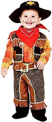 e Herstellung Deluxe Baby &Ältere Jungen Wild West Cowboy Pistole Schwinger Kostüm Kleid Outfit 0-12 Jahre - 3 Years ()