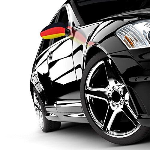Preisvergleich Produktbild Oramics Fahne Germany Auto Aussenspiegel Flagge Deutschland WM 2010 AutoFahne Autoflagge Spiegel GEIL Germany Spiegel Socke NEU