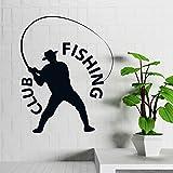 zqyjhkou Fishing Club Fischer Hobby Mann Mit Hut Vinyl