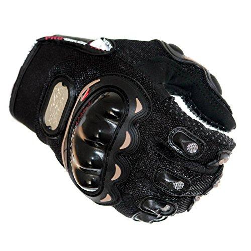Otto Harvest Motorrad Handschuhe Textil schwarz Biker Racing Moto Cross Roller Inliner Protectoren Sommer XL (M)