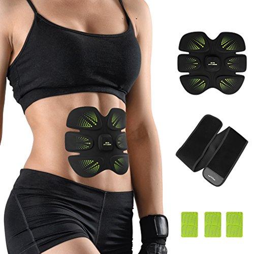 Finether Elektrostimulation EMS-Trainer Elektrische Muskelstimulation Bauchmuskeltrainer Workout Körper Toner Abdominal Muskel-training Geräte für Muskelaufbau, Fettverbrennung, Figurformer, Abnehmen