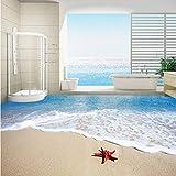 Alasijia Revêtement mural papier peint plage Starfish Waves 3D peinture de plancher...