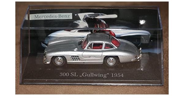 Ixo Mercedes Benz 300sl Gullwing Silber Coupe Flügeltürer 1954 1963 1 43 Modell Auto Mit Individiuellem Wunschkennzeichen Spielzeug