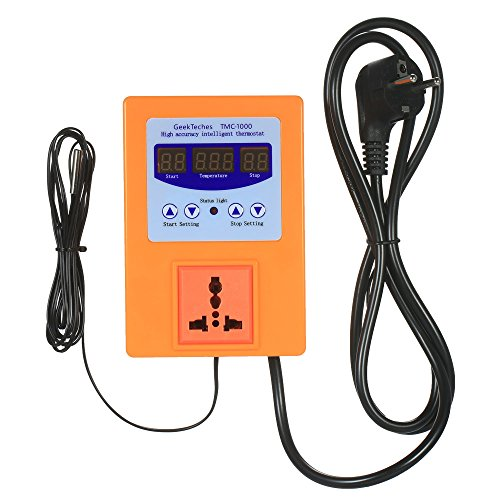 Festnight AC110-240V 10A LED Digital Intelligent vorverdrahtet Temperaturregler Outlet mit Sensor Thermostat Heizung Kühlung Steuerschalter