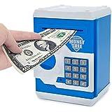 Magicwand Money Safe Kids Piggy Savings Bank with Electronic Lock (Blue & White)