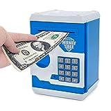 #7: Magicwand Money Safe Kids Piggy Savings Bank with Electronic Lock (Blue & White)