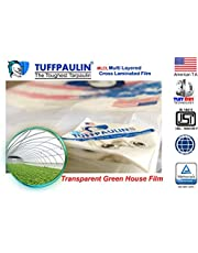 TUFFPAULIN (9x9 ft,Transparent) Tarpaulin Sheet Waterproof |UV Treated|Multi Layered-Cross Laminated|Virgin Plastic Extra Strong Tirpal Tarpal IS14611:2016 Approved (120 GSM)