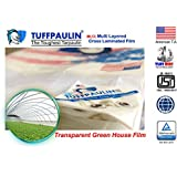 TUFFPAULIN Tarpaulin Sheet Waterproof |UV Treated|Multi Layered-Cross Laminated|Virgin Plastic Extra Strong Tirpal Tarpal IS14611:2016 Approved Transparent (120GSM)