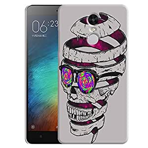 Theskinmantra Skull Drill back cover for Redmi Note 3