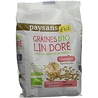 Ethiquable Graines de Lin Doré Bio 250 g Paysans d'Ici - Lot de 4