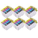 Perfectprint cartuccia toner sostituzione per Epson Stylus B40W bx-300F 310FN 600FW 610FW D120D120WiFi D78D92dx-40004050440044505000(nero/ciano/magenta/giallo, 24-pack)
