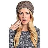 KQueenStar Winter Gestrickte Stirnband - Damen Gestrickt Stirnband Häkelarbeit Headwrap Häkeln Stirnband Haarband Headwrap Hut Cap Ohr Wärmer