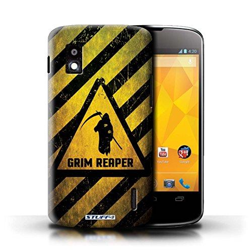 Kobalt® Imprimé Etui / Coque pour LG Nexus 4/E960 / Biohazard conception / Série Signes de Danger Décès/Faucheuse