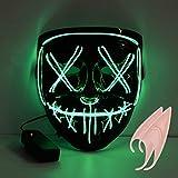 URAQT Halloween LED Maschere, LED Leggero Light Up Maschera, Divertente Maschere per Festival Party , Costume Cosplay, Carnevale, Halloween Accessori, Maschera Smorfia