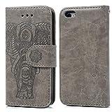 Coque iPhone 5 5S SE Etui Flip Cover Clapet 2 en 1 Coque Protecteur en Cuir PU avec...