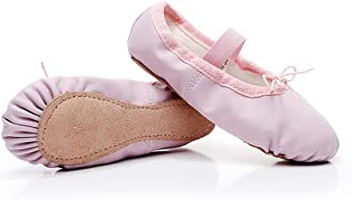 Lily's Locker - Ballet Shoes for Girls Full Sole Leather Dance Shoes for Children and Adults