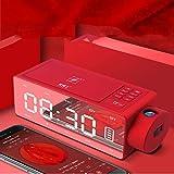 Kuan Wecker Lautsprecher Audio drahtlose Aufladung blau Neue kreative Nacht Smart-Lautsprecher (Bildtelefon ist nur Dekoration),Black