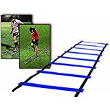 CAMTOA Agility Ladder, Speed Training Ladder,Speed Training Kit-9-rung, Quick Wellness Adjustable Flat, 5m Length for Soccer, Speed, Football Fitness Feet Training Serious Sports with Free Carry Bag
