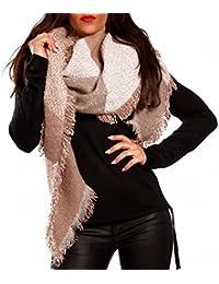 Damen XXL Schal Melange-Optik mit Fransen