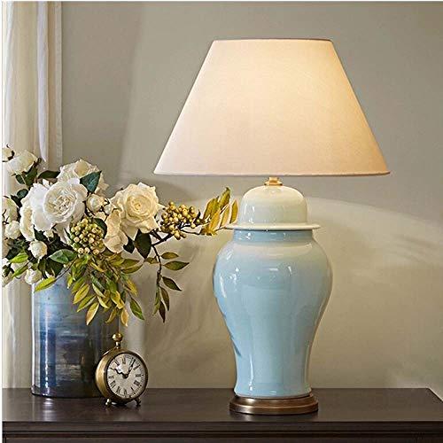 Hell LED-Messinggrün-Sprung Keramik Stoff Schlafzimmer Studie Esszimmer Wohnzimmer Beleuchtung Lampen Beige High End (Color : Green) - Keramik Glühbirne-ring