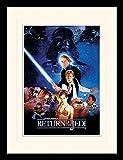 Star Wars - Episodio VI, Il Ritorno dello Jedi, Locandina Poster da Collezione Incorniciato (40 x 30cm)