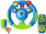 Baby Lenkrad mit Handy Fernbedienung und Schlüssel Set Pink Blau-Grün #4481 (blau)