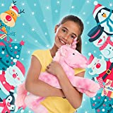"GirlZone: Unicorn Gifts For Girls, Large 18"" Pink Stuffed Fluffy Unicorn Soft Plush Toy Teddy: Great Christmas & Birthday Gift Present Idea For Girls Age 3 4 5 6 7 8 9+ Years Old."