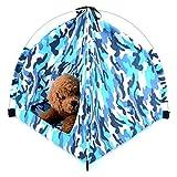 SMALLLEE_LUCKY_STORE Tenda per cani Pet Camo per campeggio Pieghevole Pet Teepee Protezione solare per esterni Colomba Culla per gatti Blu