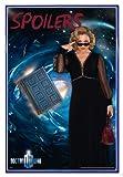 Close Up Doctor Who Poster Spoilers (94x63,5 cm) gerahmt in: Rahmen blau