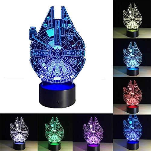 Lámpara de Star Wars, 3D Lámpara de ilusión Escritorio de Luz de...