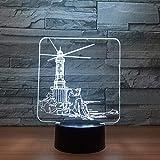 Leuchtturm Modell Led 3D Nachtlicht 7 Farbwechsel Stimmungslampe Usb 3D Illusion Tischlampe Für Zuhause Dekorativ Als Kind Tzxdbh