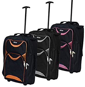 Lightweight Wheeled Cabin Travel Bag Suitcase Case Hand Luggage Trolley Holdall - Humlin Branded