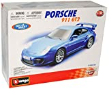 Bburago Porsche 911 997 GT2 Coupe Blau 2004-2012 Bausatz Kit 1/32 Modell Auto