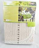 Rustikal Gartentischdecke Tischdecke, weiß, 130x160x0,7 cm, 20625